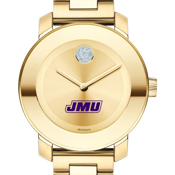 James Madison University Women's Movado Gold Bold