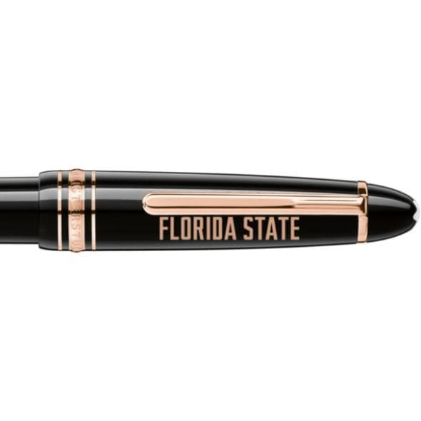 Florida State University Montblanc Meisterstück LeGrand Ballpoint Pen in Red Gold - Image 2