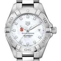 Syracuse Women's TAG Heuer Steel Aquaracer with MOP Diamond Dial