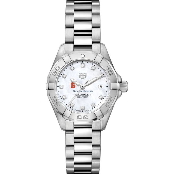 Syracuse Women's TAG Heuer Steel Aquaracer with MOP Diamond Dial - Image 2