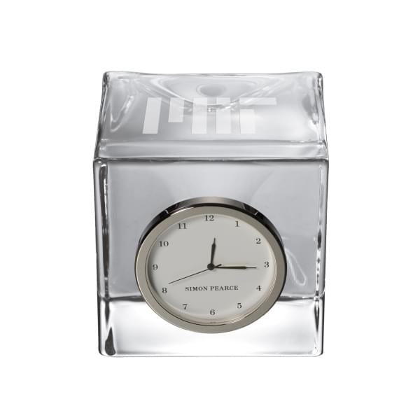 MIT Glass Desk Clock by Simon Pearce