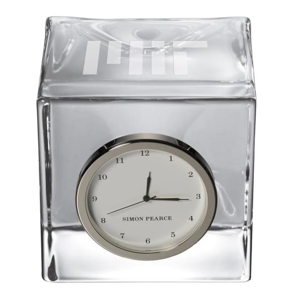 MIT Glass Desk Clock by Simon Pearce - Image 2