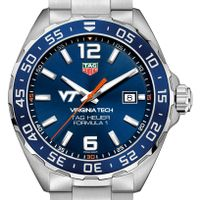 Virginia Tech Men's TAG Heuer Formula 1 with Blue Dial & Bezel