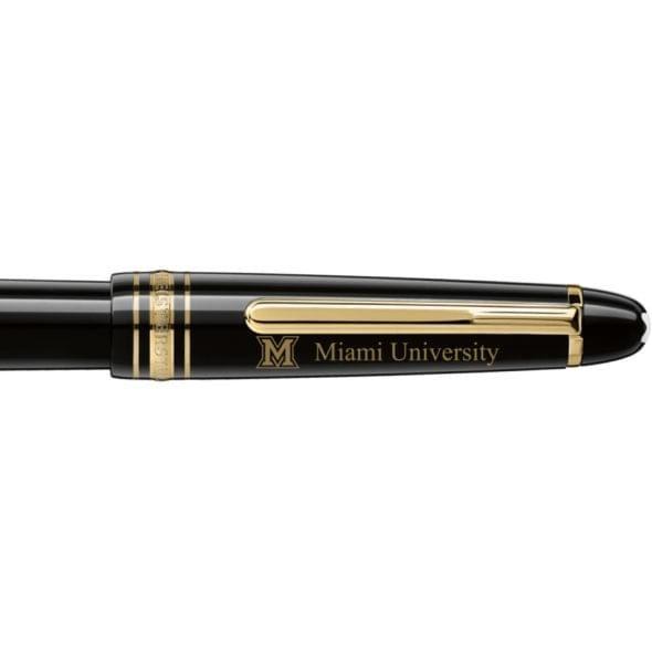 Miami University in Ohio Montblanc Meisterstück Classique Fountain Pen in Gold - Image 2