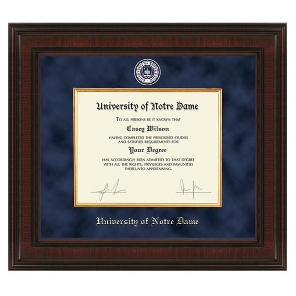 University of Notre Dame Diploma Frame - Excelsior | Graduation Gift