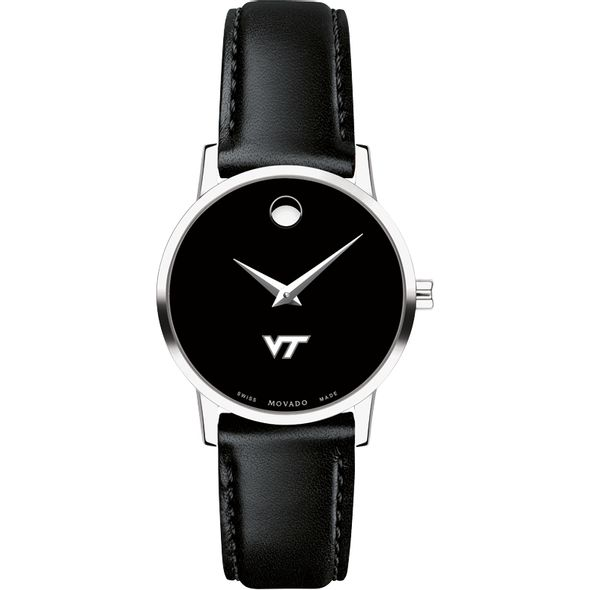 Virginia Tech Women's Movado Museum with Leather Strap - Image 2
