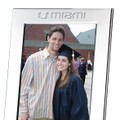 University of Miami Polished Pewter 5x7 Picture Frame - Image 2