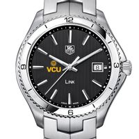 VCU Men's Link Watch with Black Dial