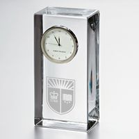 Rutgers University Tall Glass Desk Clock by Simon Pearce