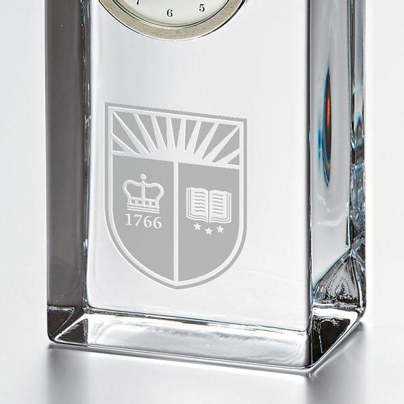 Rutgers University Tall Glass Desk Clock by Simon Pearce - Image 2