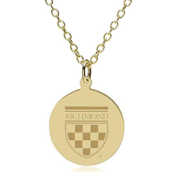 University of Richmond 18K Gold Pendant & Chain