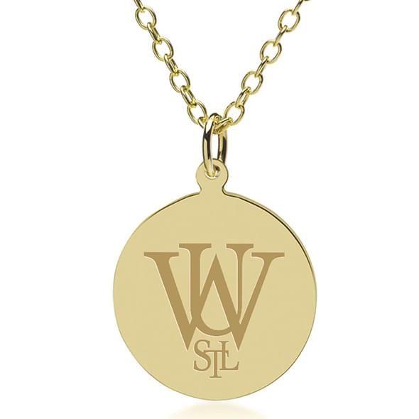 WashU 18K Gold Pendant & Chain