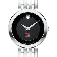 Miami University Women's Movado Esparanza Stainless Steel Museum with Bracelet