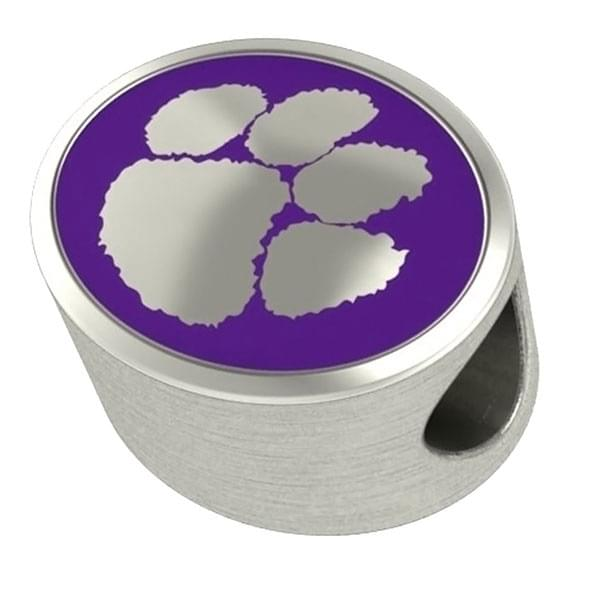 Clemson Enameled Bead in Color - Image 2