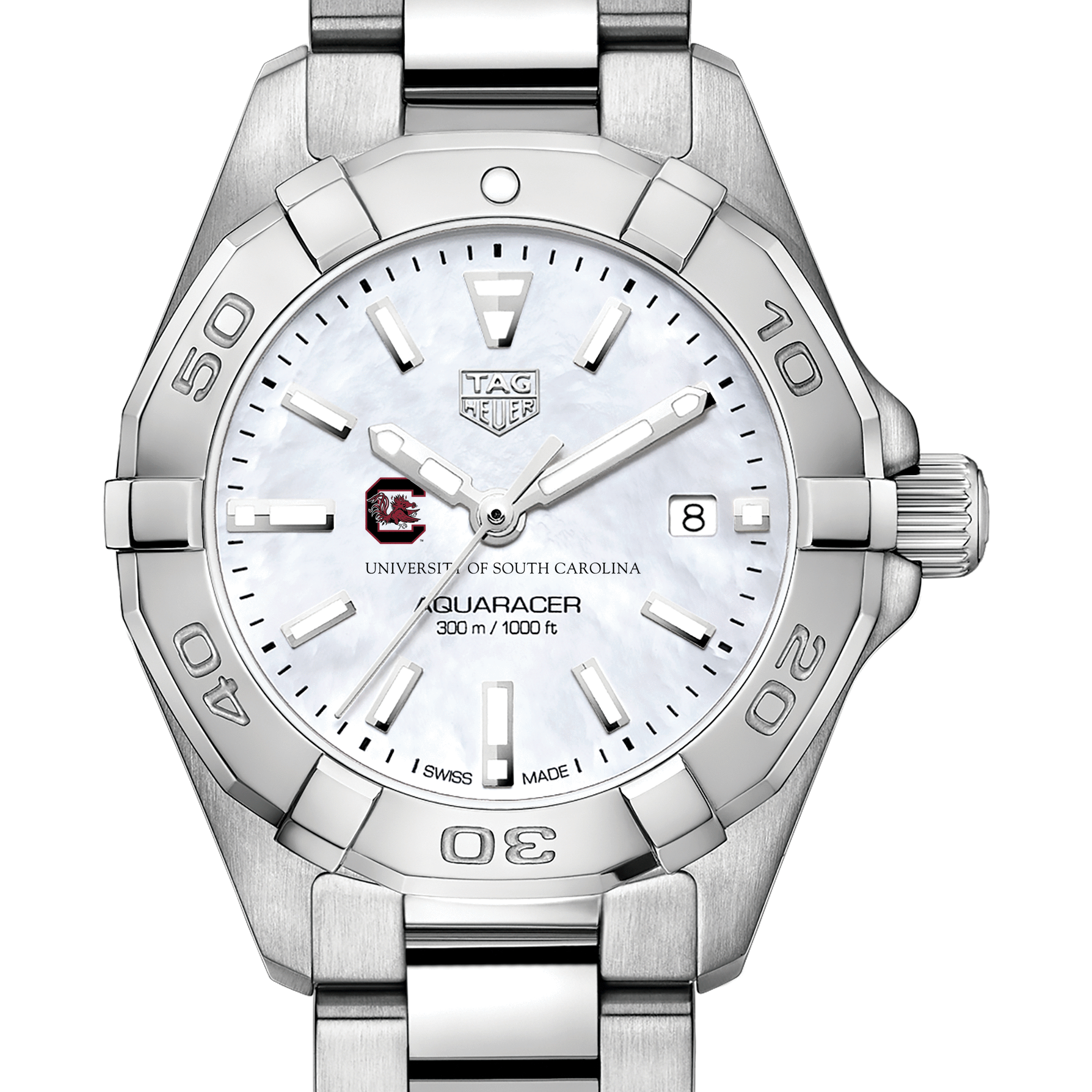South Carolina Women's TAG Heuer Steel Aquaracer with MOP Dial