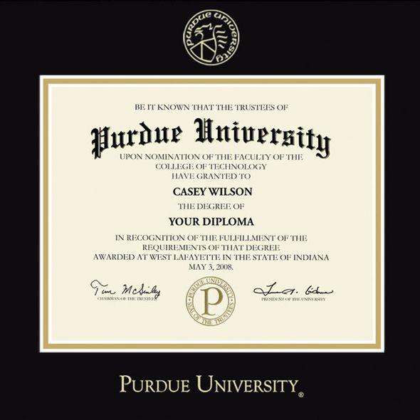 Purdue University Bachelors Diploma Frame, the Fidelitas - Image 2