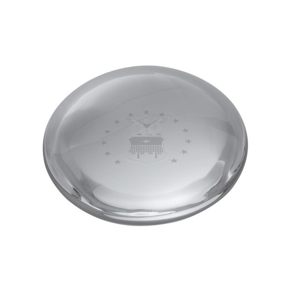USAFA Glass Dome Paperweight by Simon Pearce - Image 1