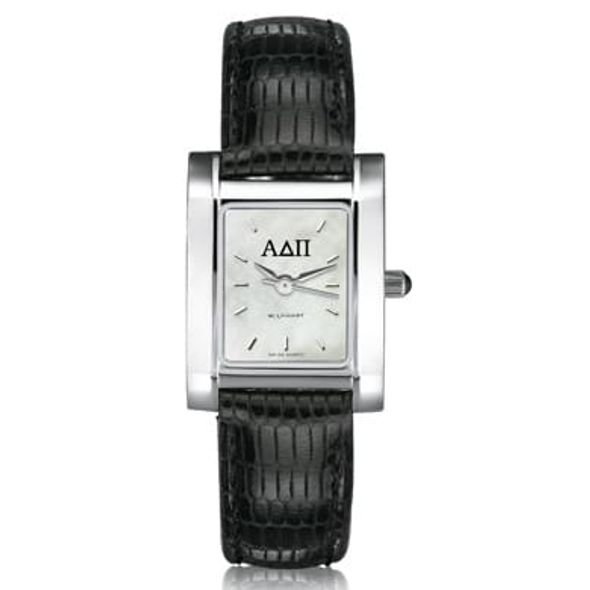 ADPi Women's Mother of Pearl Quad Watch with Leather Strap