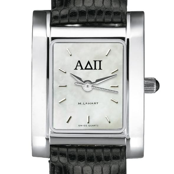 ADPi Women's Mother of Pearl Quad Watch with Leather Strap - Image 2
