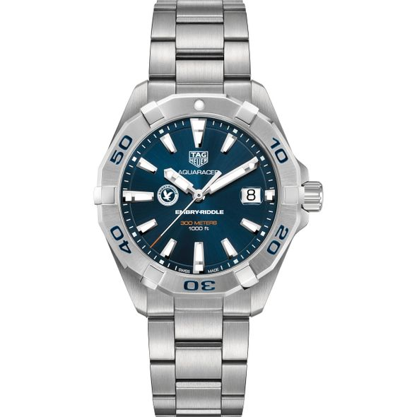 Embry-Riddle Men's TAG Heuer Steel Aquaracer with Blue Dial - Image 2