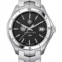 Georgia Tech TAG Heuer Men's Link Watch with Black Dial