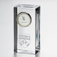Wharton Tall Class Desk Clock by Simon Pearce