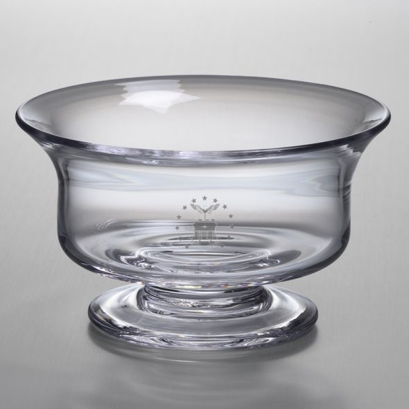 Air Force Academy Medium Glass Revere Bowl by Simon Pearce - Image 1