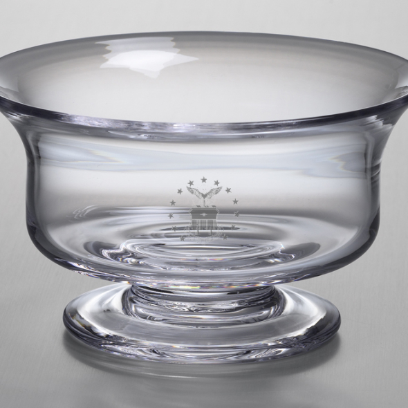 Air Force Academy Medium Glass Revere Bowl by Simon Pearce - Image 2
