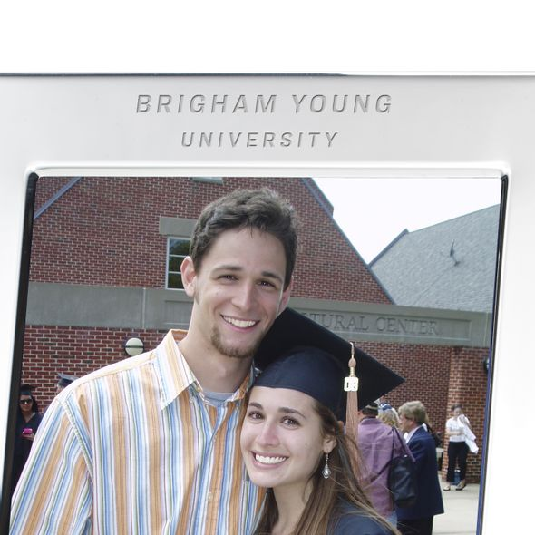 Brigham Young University Polished Pewter 5x7 Picture Frame - Image 2