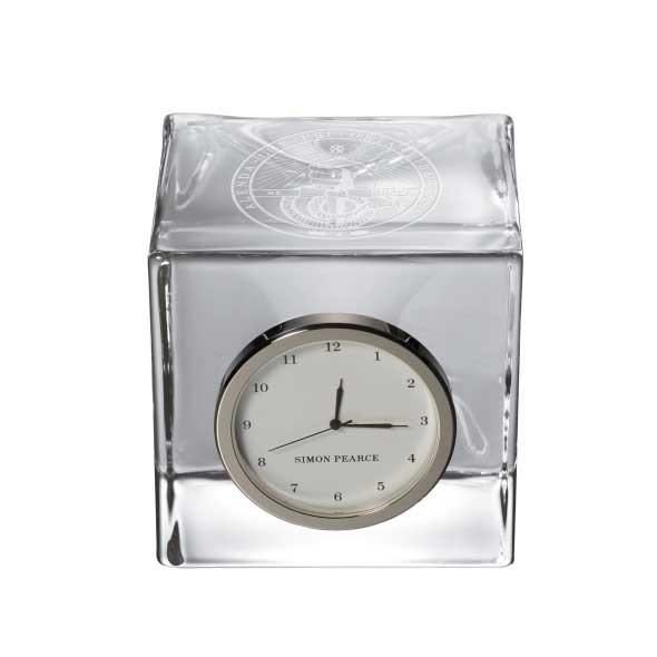 Davidson College Glass Desk Clock by Simon Pearce
