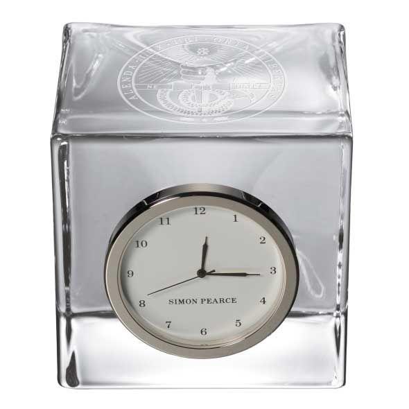 Davidson College Glass Desk Clock by Simon Pearce - Image 2