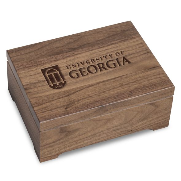 University of Georgia Solid Walnut Desk Box