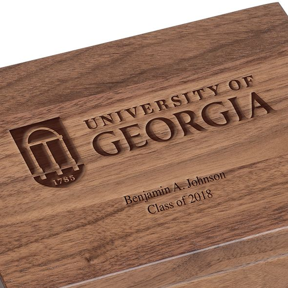 University of Georgia Solid Walnut Desk Box - Image 3
