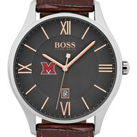 Miami University Men's BOSS Classic with Leather Strap from M.LaHart