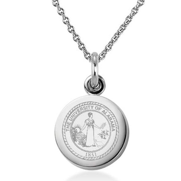 University of Alabama Necklace with Charm in Sterling Silver - Image 1