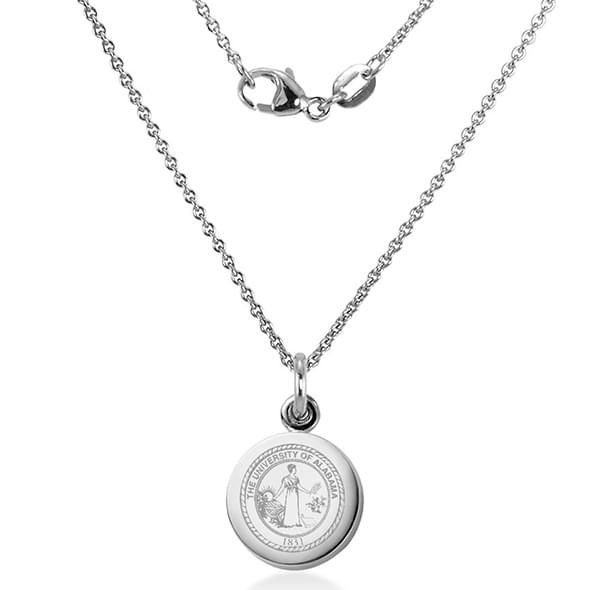 University of Alabama Necklace with Charm in Sterling Silver - Image 2