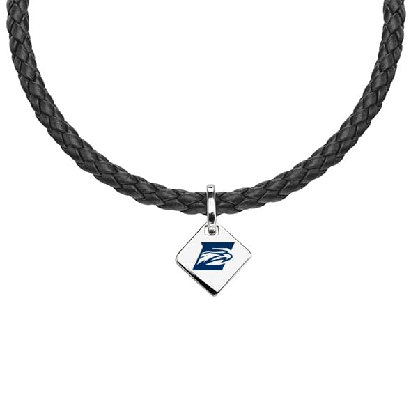Emory Leather Necklace with Sterling Silver Tag