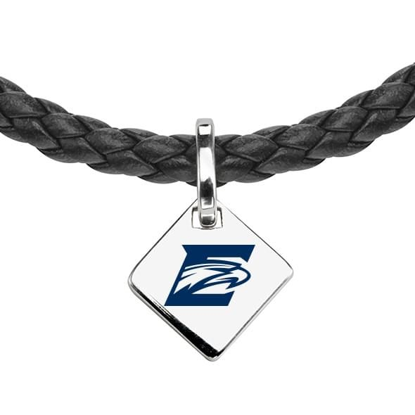 Emory Leather Necklace with Sterling Silver Tag - Image 2