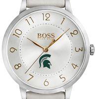 Michigan State University Women's BOSS White Leather from M.LaHart