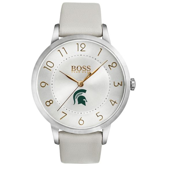 Michigan State University Women's BOSS White Leather from M.LaHart - Image 2