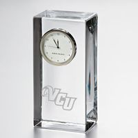 VCU Tall Glass Desk Clock by Simon Pearce