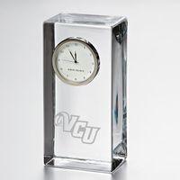VCU Tall Glass Desk Clock by Simon Pearce