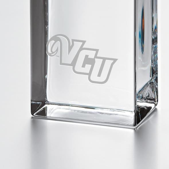 VCU Tall Glass Desk Clock by Simon Pearce - Image 2