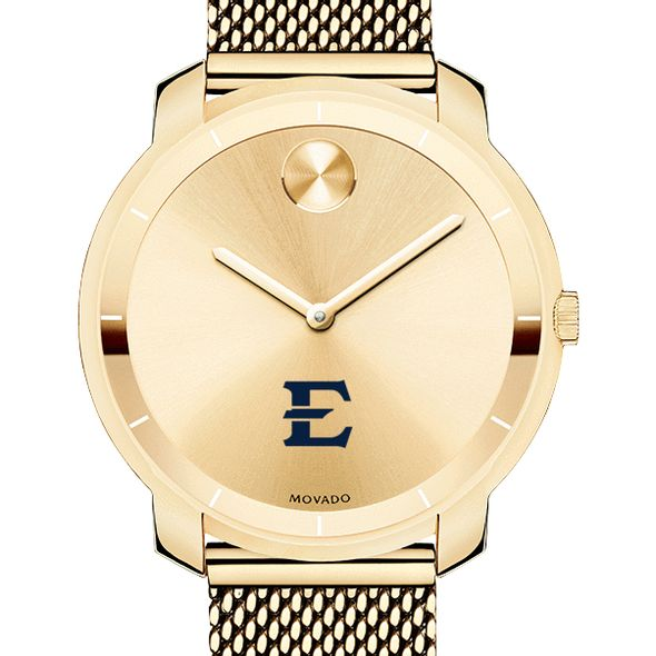 East Tennessee State University Women's Movado Gold Bold 36