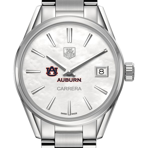 Auburn University Women's TAG Heuer Steel Carrera with MOP Dial