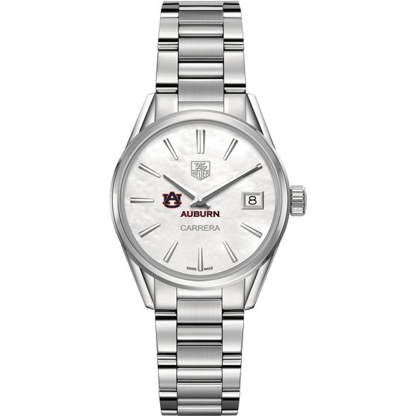 Auburn University Women's TAG Heuer Steel Carrera with MOP Dial - Image 2