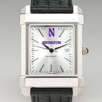 Northwestern Men's Collegiate Watch with Leather Strap
