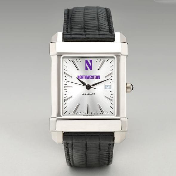 Northwestern Men's Collegiate Watch with Leather Strap - Image 2