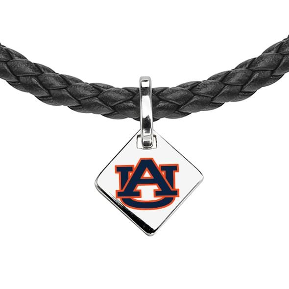 Auburn University Leather Necklace with Sterling Silver Tag - Image 2