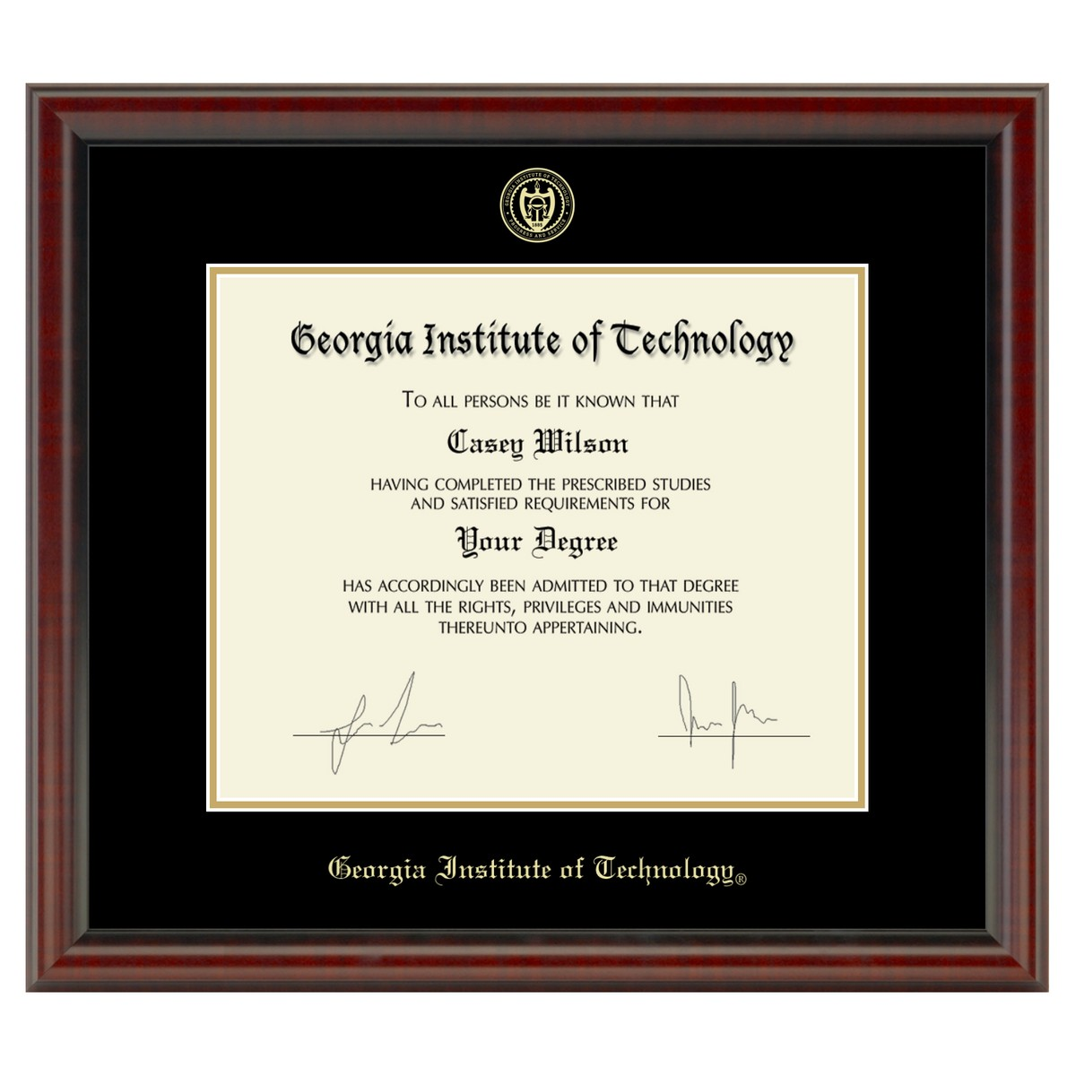 Official Georgia Tech Diploma Frame The Fidelitas